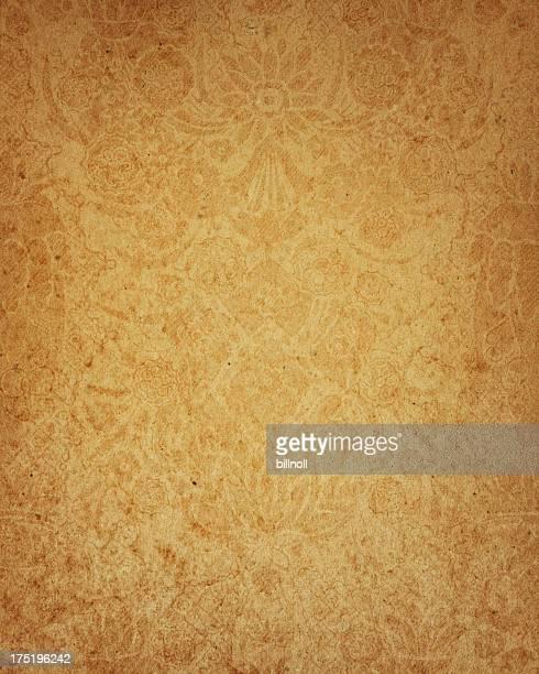 17 th Century diseño de papel floral