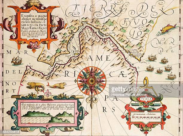 17th Century Map of the Strait of Magellan