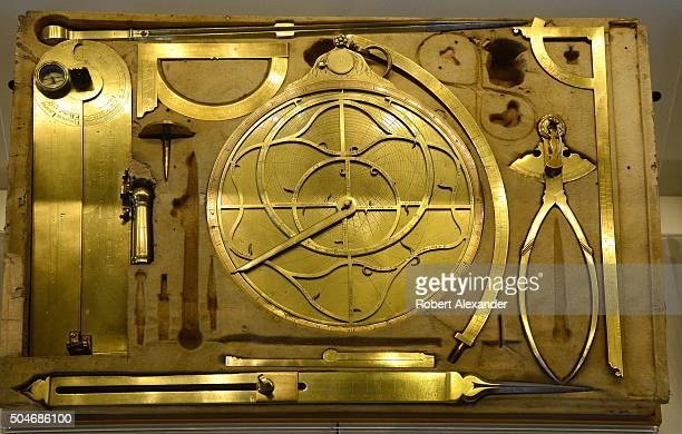 A 17th century set of mathematical instruments used by Giacomo and Domenico Lusverg in Rome Italy is among the Renaissanceera scientific objects on...