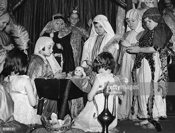 A scene from a nativity play at Barrow Hill Road Infants School in St John's Wood