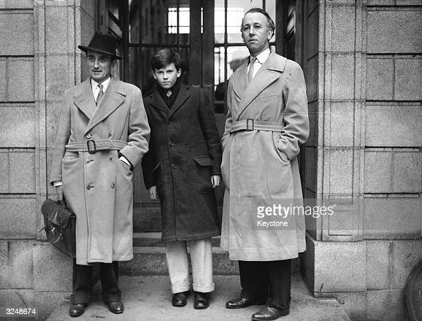Gay Kindersley 13yearold son of Philip Kindersley and Lady Oranmore and Browne outside the Four Courts in Dublin during a drawnout custody battle...