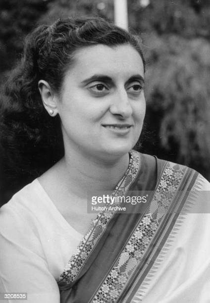 Portrait of Indian Prime Minister Indira Gandhi daughter of Prime Minister Nehru India