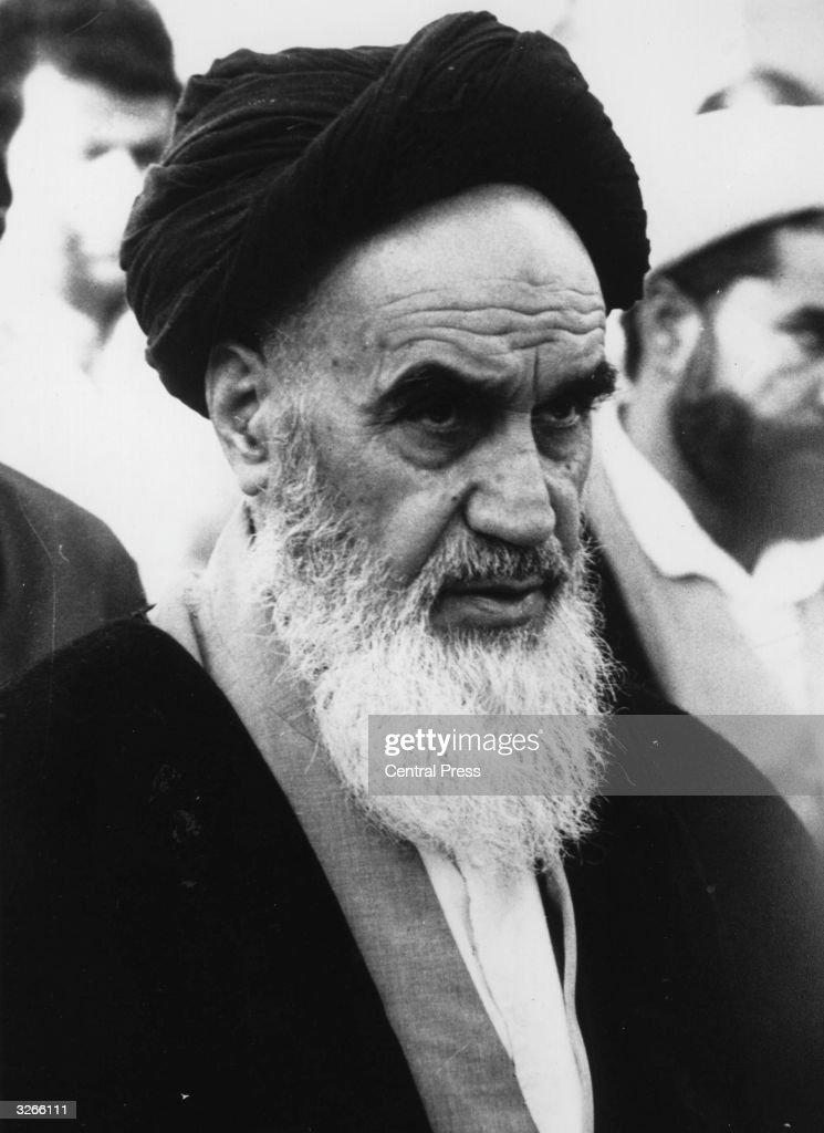 Ayatollah Ruhollah Khomeini (1900 - 1989), the Iranian religious and political leader.