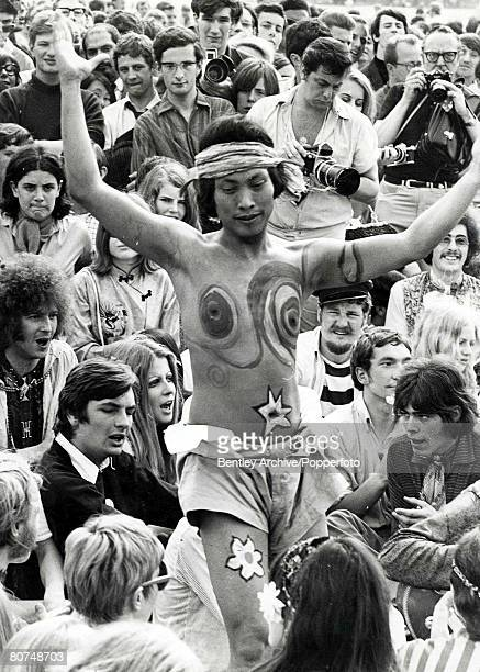 17th July 1967 Make love do anything you want we are here to be happy'' said Steve Abrams in Hyde Park and the picture shows a hippy who certainly...
