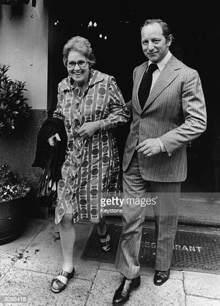The Dowager Countess of Lucan and William ShandKydd brother inlaw to Lord Lucan's wife leaving for the court inquest on Sandra Rivell