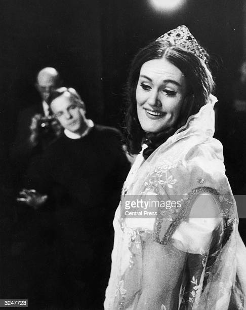 Australian opera singer Dame Joan Sutherland in rehearsal at Covent Garden for her role as Elvira in 'I Puritani' by Bellini She is watched by...
