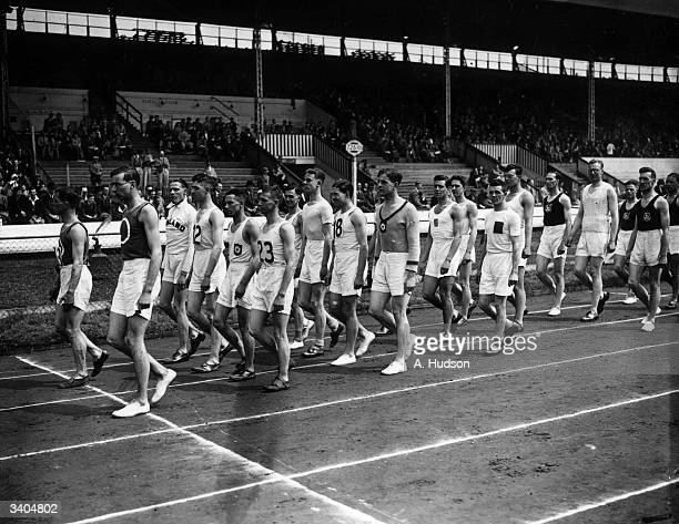 Members of the Yorkshire team at the annual British Games InterCounty Athletic Championships at White City Stadium London
