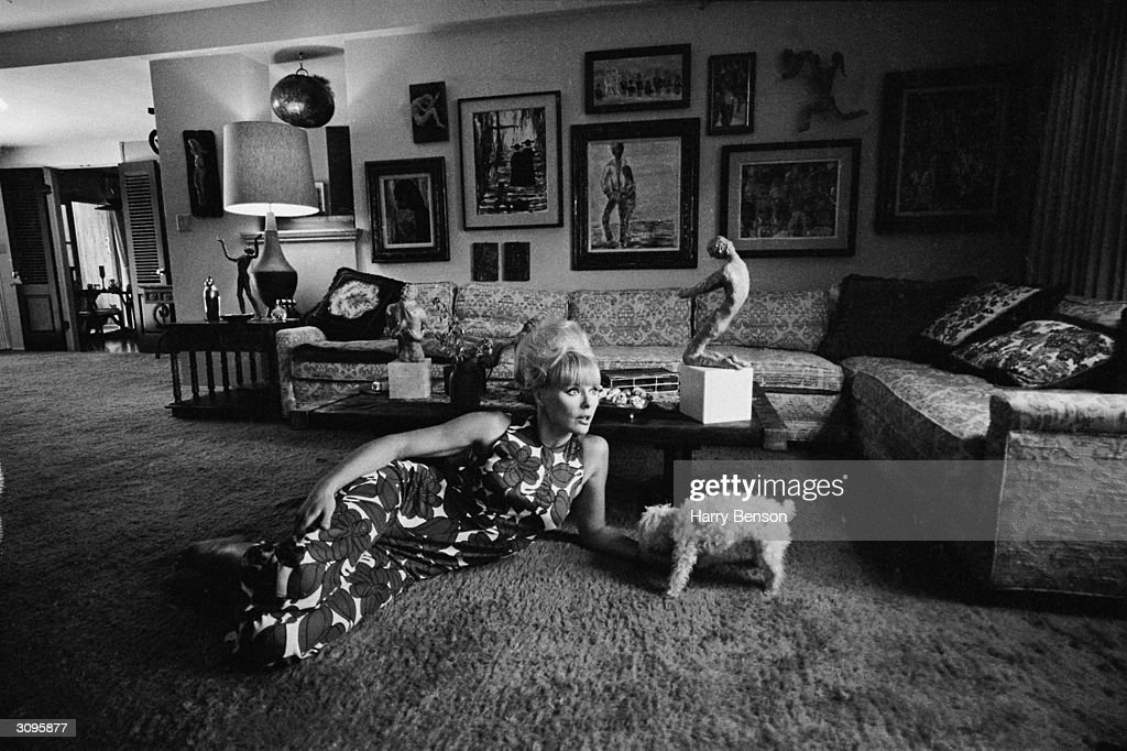 German actress Elke Sommer at her Beverly Hills home.