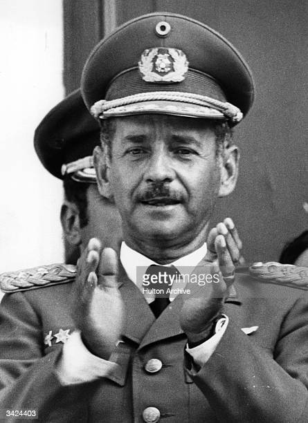 Colonel Hugo Banzer Suarez who overthrew General Gonzales to become president of Bolivia in August 1971