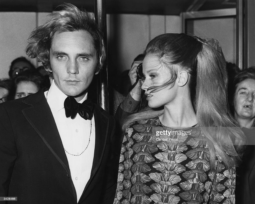 Actor Terence Stamp and model Celia Hammond attend the film premiere of 'Far from the Madding Crowd' in which he stars. The premiere is at the Odeon, Marble Arch, London.