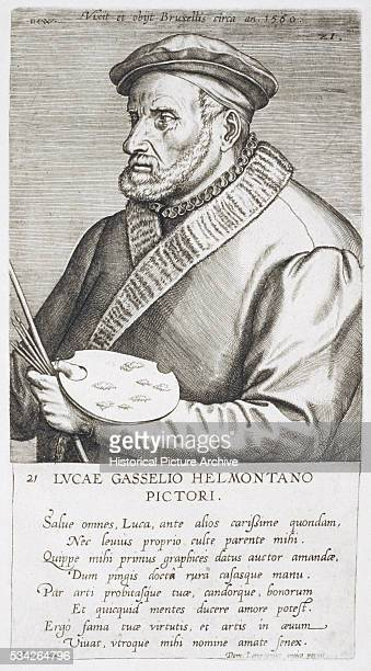 17thCentury Copper Engraving of Lucas Gassel