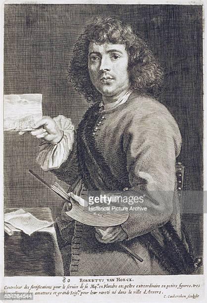17thCentury Copper Engraving of Robert van den Hoecke
