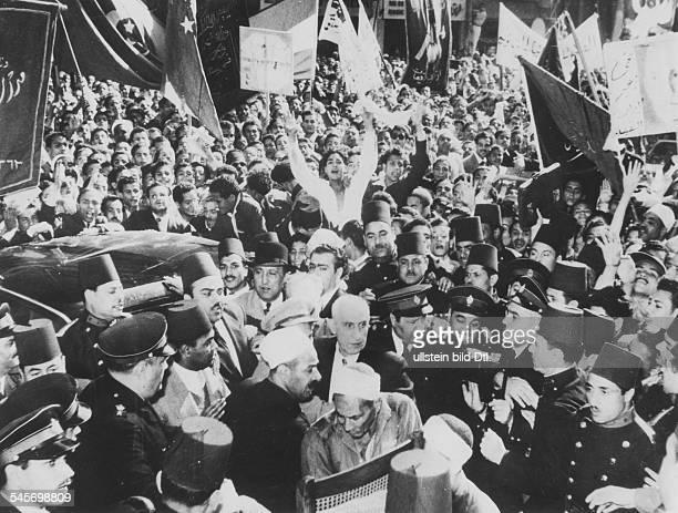 18801967Politiker PersienMinisterpräsidentvor einem Hotel in Kairo November 1951