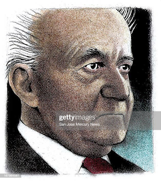 18.8p x 21.1p Doug Griswold color illustration of Israeli President David Ben-Gurion.