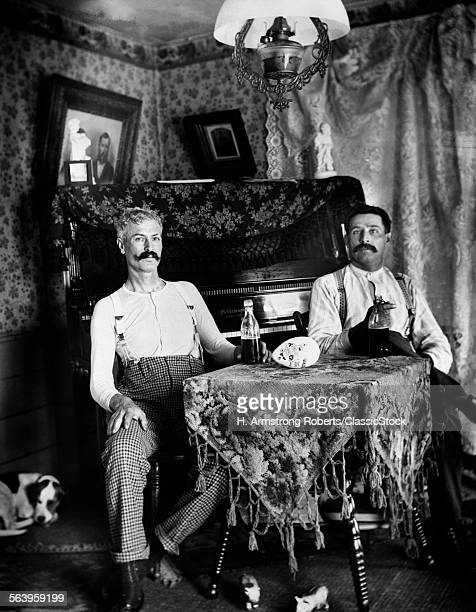 1890s TWO MEN IN SHIRT...