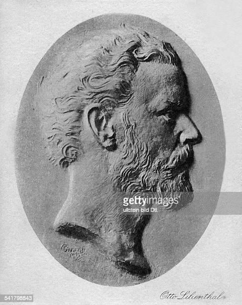 1848 1896Flugpionier und Ingenieur DRelief Postkarte