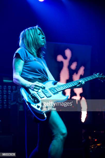 Kim Gordon of Sonic Youth performs on stage at Razzmatazz on April 18 2010 in Barcelona Spain