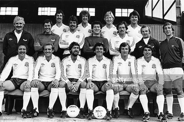 The Bolton Wanderers team group manager Ian Greaves Terry Poole Peter Nicholson Sam Alleridge Alan Gowling Jim McDonagh Mike Walsh assistant manager...