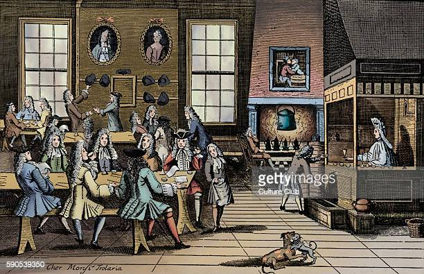 18th century Coffee House Engraving