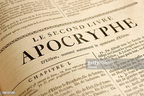 18th century French bible Apocryphal second book