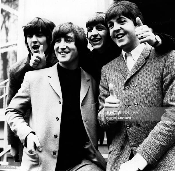 The Beatles at the London Palladium From left to right George Harrison John Lennon Ringo Starr and Paul McCartney