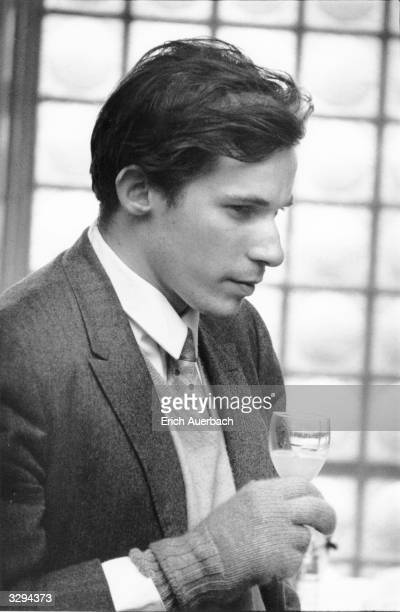The Canadian pianist Glenn Gould backstage at Royal Festival Hall London