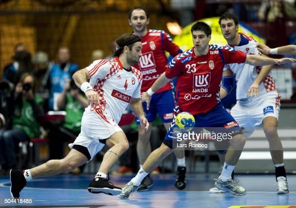 World Championship Malmø Serbia vs Croatia Ivano Balic Kroatien / Croatia Nenad Vuckovic Serbien / Serbia ©Lars Rønbøg / Frontzonesport