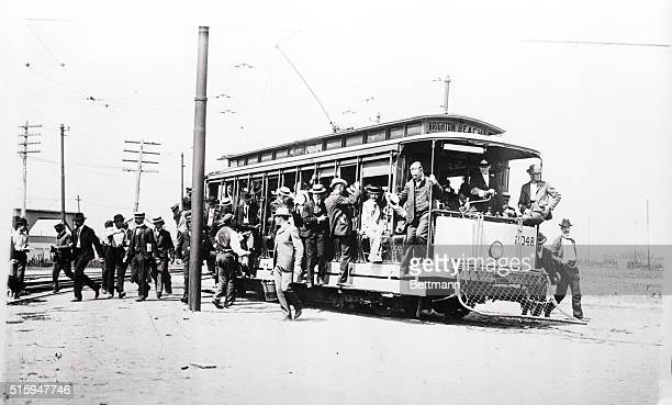 Open trolley car chich can take you to Brighton Beach Brookly