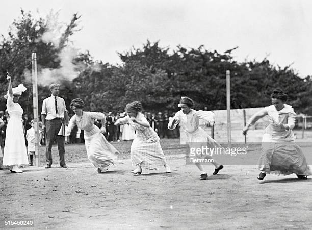 1911BobLo Island Michigan Women's athletic events were affairs of grim determination in 1911 despite rather confining dress fashions Here four ladies...