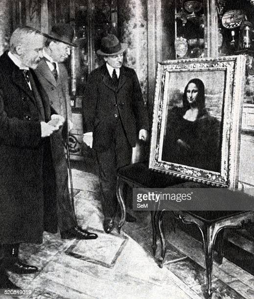Vincenzo Peruggia stole the painting in the Louvre in 1911 In 1913 he was arrested in Florence and the Monna Lisa was recovered In the picture the...