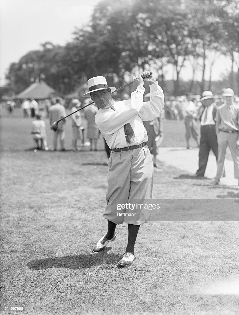 Walter Hagen at the U.S. Open Golf Championship at the Winged Foot Club, Mamaroneck, New York. Photograph.