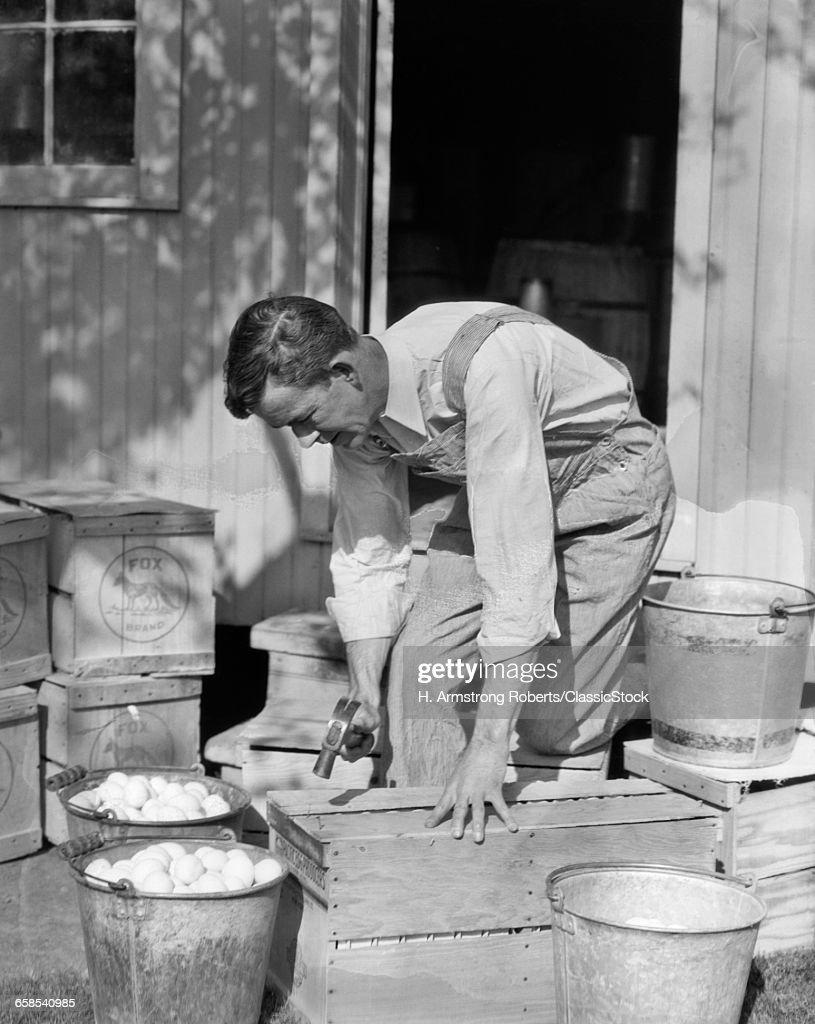 1920s 1930s MAN FARMER...