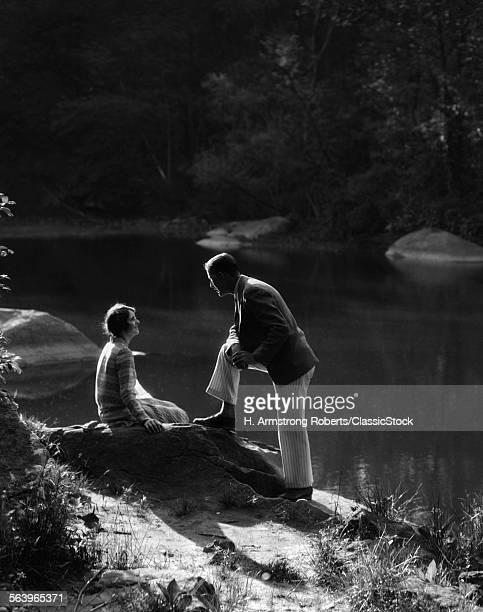 1920s 1930s ROMANTIC SCENE...