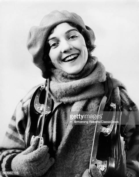 1920s 1930s SMILING WOMAN...