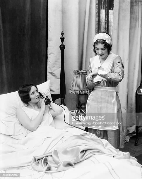 1920s 1930s TWO WOMEN IN...