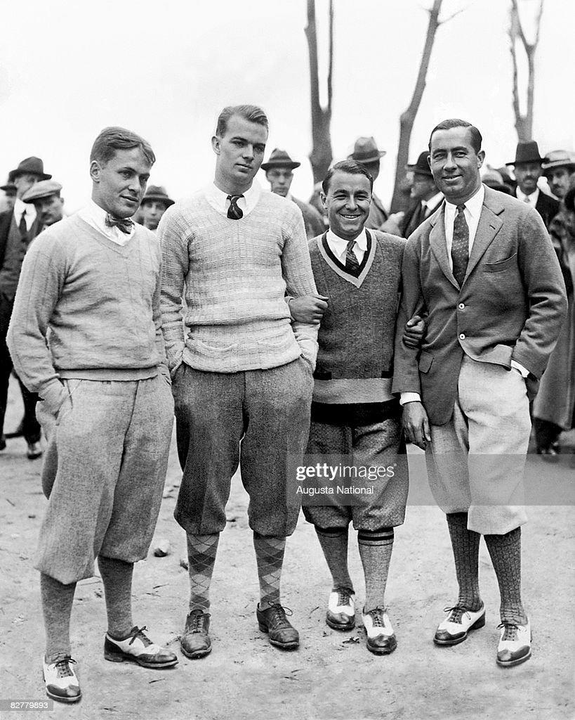Bobby Jones Jess Sweetser Gene Sarazen and Walter Hagen