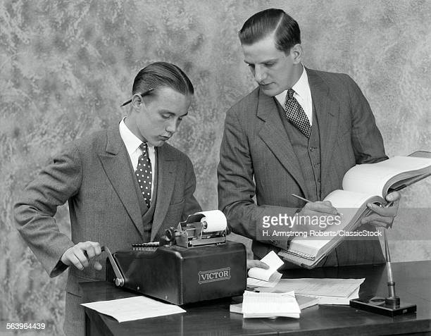 1920s BOOKKEEPER AND YOUNG...