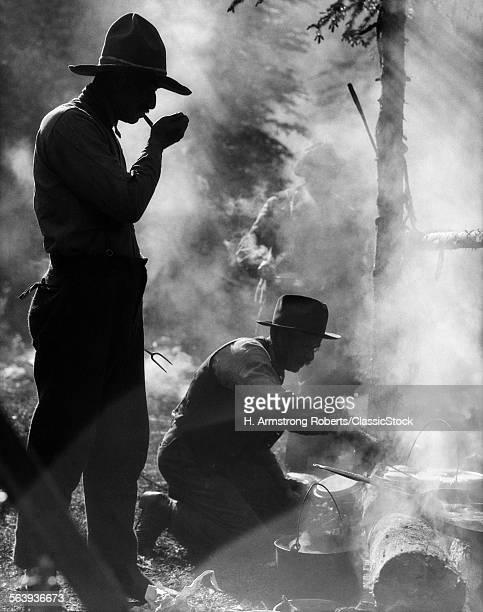 1920s THREE ANONYMOUS MEN...