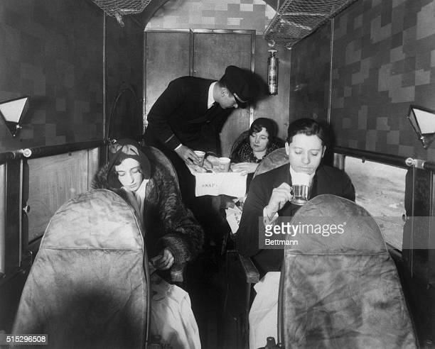 1930Aboard the 'Tin Goose' the Ford Trimotor operated by National Air Transport passengers munched cold sandwiches wrapped in wax paper and sipped...