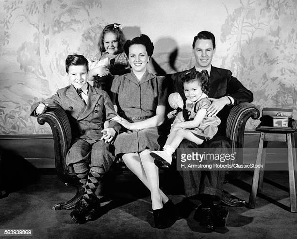 1930s 1940s FAMILY OF 5...