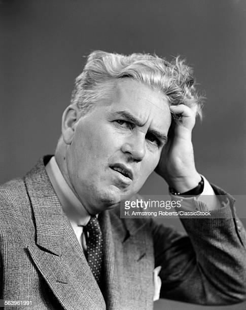 1930s 1940s MAN PORTRAIT...