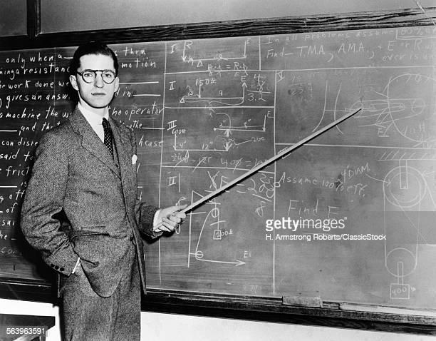 1930s 1940s MAN TEACHER...