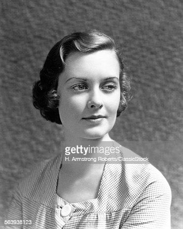 1930s 1940s PORTRAIT WOMAN...