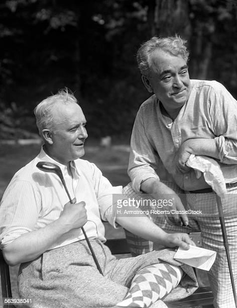1930s 2 ELDERLY MEN...