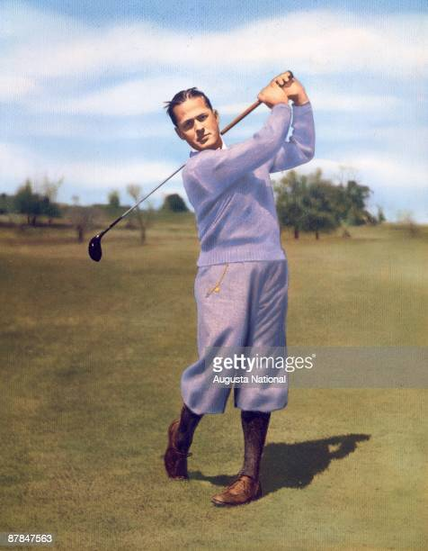 A painting of Bobby Jones founder of the Augusta National Golf Club