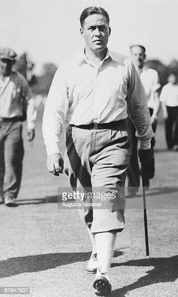 Bobby Jones during a 1930s Masters Tournament at Augusta National Golf Club in Augusta Georgia