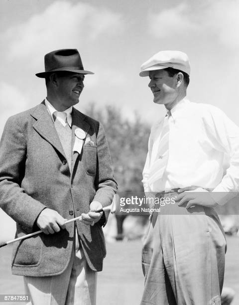 Ed Dudley and Byron Nelson during a 1930s Masters Tournament at Augusta National Golf Club in Augusta Georgia