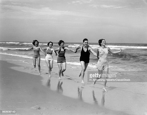 1930s FOUR WOMEN AND ONE...