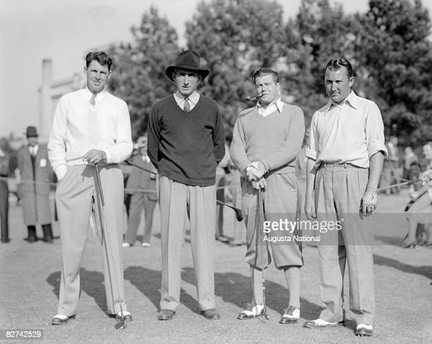 Henry Picard Tommy Armour Lawson Little and Vic Ghezzi during a 1930s Masters Tournament at Augusta National Golf Club in Augusta Georgia