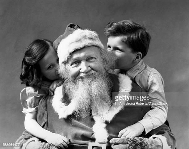 1930s MAN SMILING SANTA...
